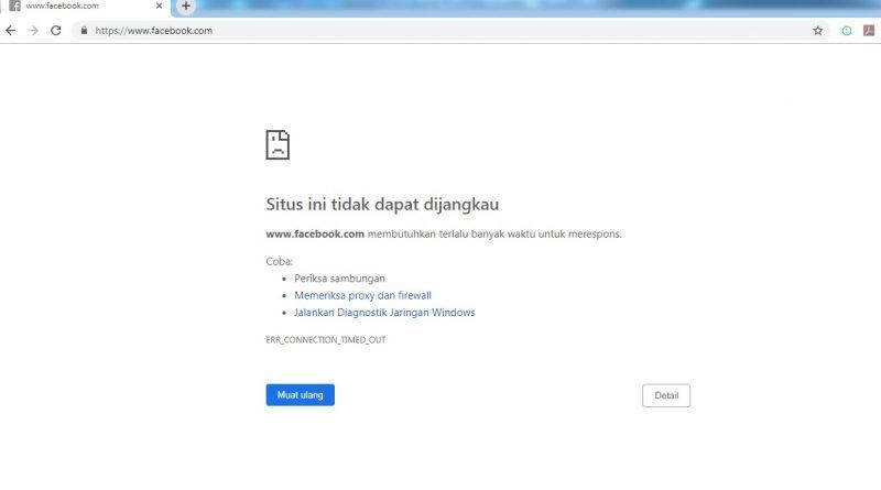 gangguan facebook, ig, dan wa